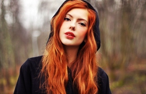 Ginger hair woman